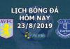 Lịch thi đấu bóng đá hôm nay ngày 23/8/2019 rạng sáng ngày 24/8/2019