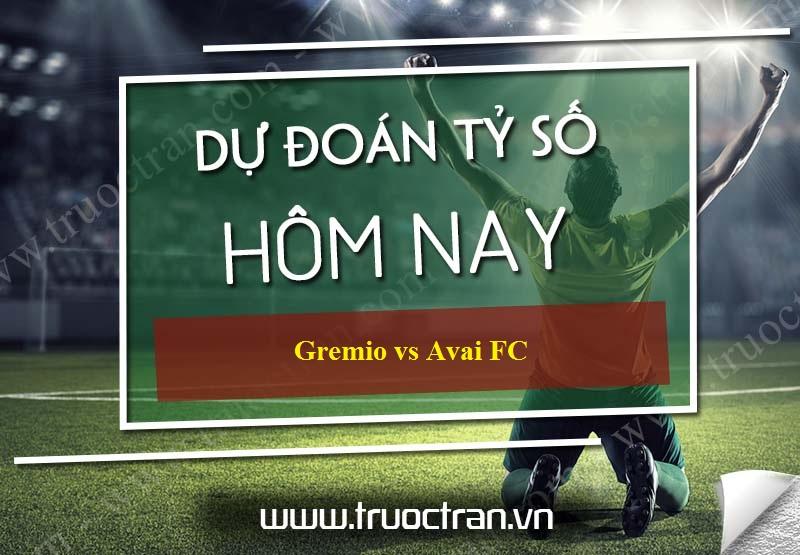 Dự đoán tỷ số bóng đá Gremio vs Avai FC – VĐQG Brazil – 27/09/2019