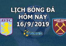 Lịch thi đấu bóng đá hôm nay ngày 16/9/2019 rạng sáng ngày 17/9/2019