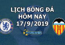 Lịch thi đấu bóng đá hôm nay ngày 17/9/2019 rạng sáng ngày 18/9/2019