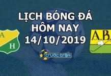 Lịch thi đấu bóng đá hôm nay ngày 14/10/2019 rạng sáng ngày 15/10/2019