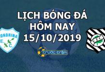 Lịch thi đấu bóng đá hôm nay ngày 15/10/2019 rạng sáng ngày 16/10/2019