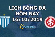 Lịch thi đấu bóng đá hôm nay ngày 16/10/2019 rạng sáng ngày 17/10/2019