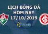 Lịch thi đấu bóng đá hôm nay ngày 17/10/2019 rạng sáng ngày 18/10/2019