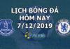 Lịch thi đấu bóng đá hôm nay ngày 7/12/2019 rạng sáng ngày 8/12/2019