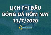 Lịch thi đấu bóng đá hôm nay ngày 11/7/2020 rạng sáng ngày 12/7/2020