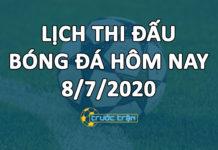 Lịch thi đấu bóng đá hôm nay ngày 8/7/2020 rạng sáng ngày 9/7/2020