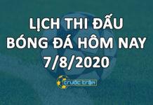 Lịch thi đấu bóng đá hôm nay ngày 7/8/2020 rạng sáng ngày 8/8/2020